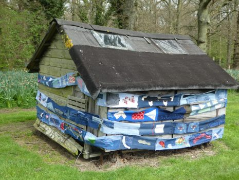 The goose shed adorned and wrapped