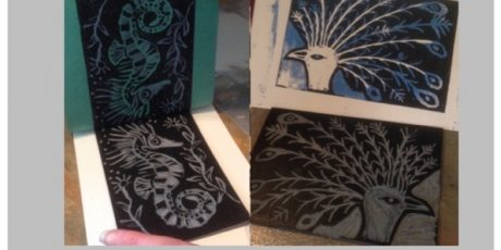 Linoprint workshop with Emma Taylor
