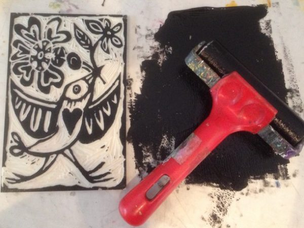 Linoprint with Emma Taylor