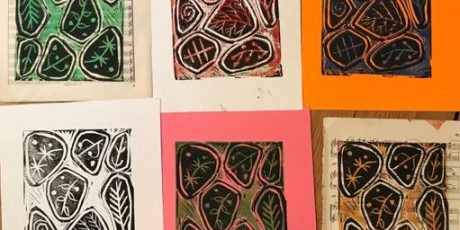 Reduction linoprinting with Emma Taylor