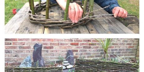 Learn how to weave a Willow (or Hazel) Obelisk & Mini Wattle Hurdle